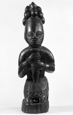 Yoruba. Kneeling Figure (Eshu-Elegba), late 19th or early 20th century. Wood, h: 11 in. (28.0 cm). Brooklyn Museum, Gift of Dr. and Mrs. Joel Hoffman, 81.102. Creative Commons-BY