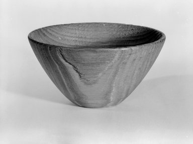 James Prestini (American, 1908-1993). Bowl, ca. 1943-1953. Chestnut, 2 1/8 x 3 7/8 x 3 7/8 in. (5.4 x 9.8 x 9.8 cm). Brooklyn Museum, Gift of Professor James Prestini, 81.113.3. Creative Commons-BY
