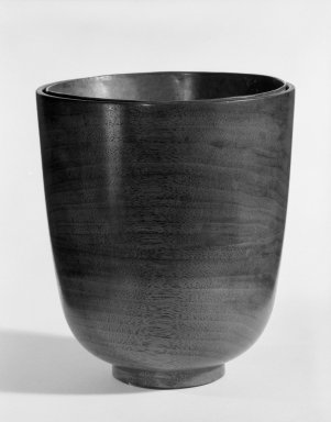 James Prestini (American, 1908-1993). Vase, ca. 1943-1953. Walnut, 5 7/8 x 5 1/8 x 5 1/8 in. (14.9 x 13 x 13 cm). Brooklyn Museum, Gift of Professor James Prestini, 81.113.5. Creative Commons-BY