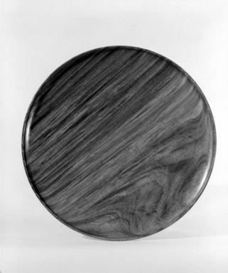 James Prestini (American, 1908-1993). Tray, ca. 1943-1953. Brazilian padauk, 7/8 x 15 x 15 in. (2.2 x 38.1 x 38.1 cm). Brooklyn Museum, Gift of Professor James Prestini, 81.113.8. Creative Commons-BY