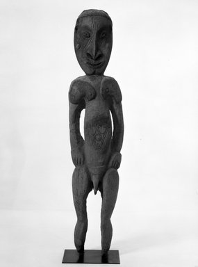 Male Ancestor Figure. Wood, 77 inches (195.6 cm.). Brooklyn Museum, Gift of Mrs. Melville W. Hall, 81.164.5. Creative Commons-BY