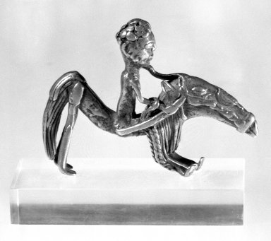 Akan. Equestrian Figure Gold Weight, 19th century. Cast brass, 3 x 2 1/4 in. (7.6 x 5.7 cm). Brooklyn Museum, Gift of Mr. and Mrs. Arnold Syrop, 81.168.1. Creative Commons-BY