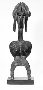 Bamana. Marionette Figure Headdress, late 19th-early 20th century. Wood, metal, 31 1/4 x 9 3/4 x 9 in. (79.4 x 24.8 x 22.9 cm). Brooklyn Museum, Gift of Dr. and Mrs. Robert A. Mandelbaum, 81.1. Creative Commons-BY
