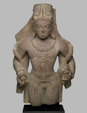 Vishnu, Late 4th-5th Century. Sandstone, 27 x 16 1/2 in. (68.6 x 41.9 cm). Brooklyn Museum, Gift of Amy and Robert L. Poster and anonymous donors, 81.203. Creative Commons-BY