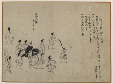 Procession, 19th century. Brush sketch, ink on paper, Image: 10 1/8 x 13 5/8 in. (25.7 x 34.6 cm). Brooklyn Museum, Gift of Dr. Jack Hentel, 81.204.21