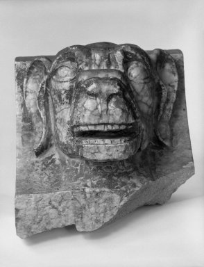 Unknown American. Head of a Dog, from Turner Towers, 135 Eastern Parkway, Brooklyn, 1928. Cast Stone: cement composition and vitreous enamel, Other: 8 x 7 1/2 x 8 in. (20.3 x 19.1 x 20.3 cm). Brooklyn Museum, Gift of Charles Free, 81.209.7. Creative Commons-BY