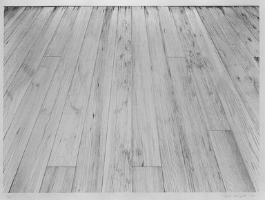 Sylvia Plimack Mangold (American, born 1938). Floor II, 1974. Lithograph on paper, sheet: 29 3/4 x 37 1/4 in. (75.6 x 94.6 cm). Brooklyn Museum, Gift of Alex Katz, 81.236.6. © Sylvia Plimack Mangold