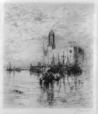 Thomas Moran (American, 1837-1926). The Castle of San Juan De Ulva, Vera Crus, 1884. Etching on paper, Sheet: 19 3/8 x 14 in. (49.2 x 35.6 cm). Brooklyn Museum, Gift of Mr. and Mrs. Martin Lerner, 81.238