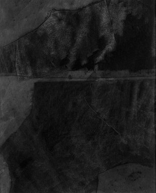 Dove Bradshaw (American, born 1949). Without Title [Carbon Removal], ca. 1981. Carbon paper on paperboard, image: 6 1/8 x 5 in. (15.6 x 12.7 cm). Brooklyn Museum, Gift of William Anastasi, 81.256.2. © Dove Bradshaw