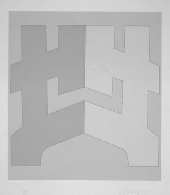 Chryssa (American, born Greece, 1933). [Untitled], 1980. Silkscreen, Sheet: 31 1/2 x 28 1/8 in. (80 x 71.4 cm). Brooklyn Museum, Gift of Dr. Richard Bassin, 81.257.9b. © Chryssa
