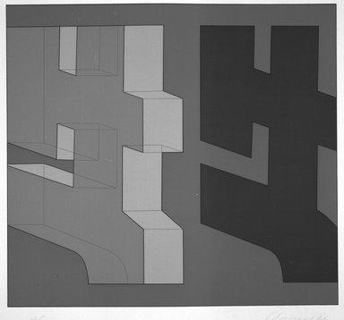 Chryssa (American, born Greece, 1933). [Untitled], 1980. Silkscreen, Sheet: 31 5/8 x 33 7/8 in. (80.3 x 86 cm). Brooklyn Museum, Gift of Dr. Richard Bassin, 81.257.9f. © Chryssa