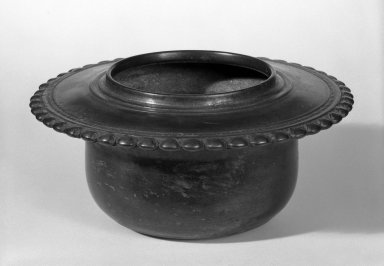 Holy Water Bowl, 12th-13th century. Bronze, 3 1/2 x 8 in. (8.9 x 20.3 cm). Brooklyn Museum, Gift of Dr. Joel Canter, 81.278.2. Creative Commons-BY