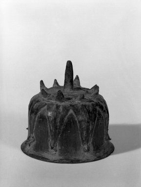 Bell, 13th-14th century. Bronze, 2 3/4 x 2 3/4 in. (7 x 7 cm). Brooklyn Museum, Gift of Dr. Joel Canter, 81.278.6. Creative Commons-BY