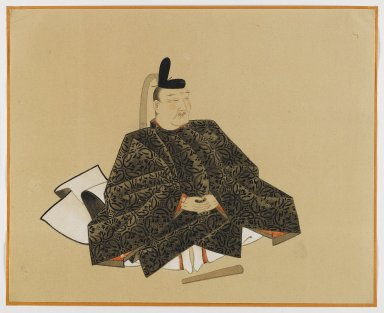 One of the Sanjurokkasen, Album Leaf Painting, 19th century. Album leaf, ink and color on paper, 11 3/8 x 14 1/8 in. (28.9 x 35.9 cm). Brooklyn Museum, Gift of Dr. Fred S. Hurst, 81.287.5