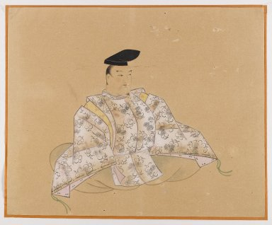 One of the Sanjurokkasen, Album Leaf Painting, 19th century. Album leaf, ink and color on paper, 11 3/8 x 14 1/8 in. (28.9 x 35.9 cm). Brooklyn Museum, Gift of Dr. Fred S. Hurst, 81.287.7