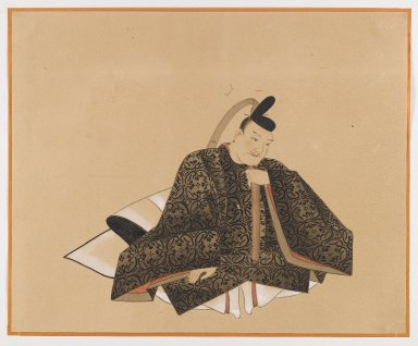 Brooklyn Museum: One of the Sanjurokkasen, Album Leaf Painting