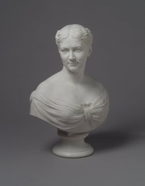 William Henry Rinehart (American, 1825-1874). Bust of Martha Jane Hall, 1874. Marble, 26 x 19 x 12 in. (66 x 48.3 x 30.5 cm). Brooklyn Museum, Gift of  James Ricau, 81.308. Creative Commons-BY
