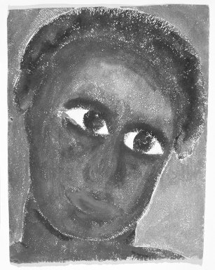Consuelo Kanaga (American, 1894-1978). [Untitled] (Black Woman). Watercolor and pastel on paper, 12 1/2 x 9 7/8 in.  (irregular) (31.8 x 25.1 cm). Brooklyn Museum, Gift of Wallace B. Putnam, 81.318.6