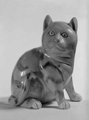 Figure of a Cat, late 18th-early 19th century. Porcelain, 5 1/4 x 4 x 3 3/4 in. (13.3 x 10.2 x 9.5 cm). Brooklyn Museum, Bequest of Dr. Grace McLean Abbate, 81.53.14. Creative Commons-BY