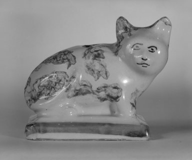 Figure of a Cat, Ca. 1700. Tin-glazed earthenware, 3 x 3 x 2 in. (7.6 x 7.6 x 5.1 cm). Brooklyn Museum, Bequest of Dr. Grace McLean Abbate, 81.53.5. Creative Commons-BY