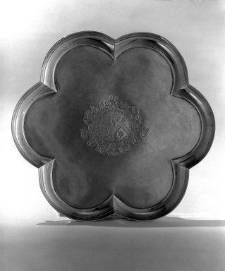 Simon Pantin. Hexafoil Salver, 1722-1723. Silver, 1 1/8 x 11 5/8 x 11 5/8 in. (2.9 x 29.5 x 29.5 cm). Brooklyn Museum, Bequest of Donald S. Morrison, 81.54.13. Creative Commons-BY