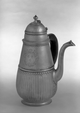 Samuel Thorne. Chocolate Pot. Silver Brooklyn Museum, Bequest of Donald S. Morrison, 81.54.28. Creative Commons-BY