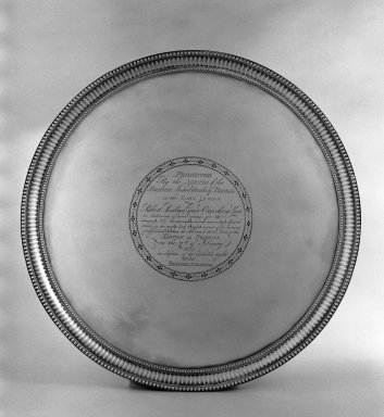 Daniel Smith. Circular Tray. Silver Brooklyn Museum, Bequest of Donald S. Morrison, 81.54.6. Creative Commons-BY