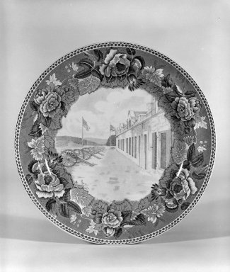 Wedgwood (founded 1759). Plate, ca. 1933. Earthenware, underglaze, 3/4 x 9 1/8 x 9 1/8 in. (1.9 x 23.2 x 23.2 cm). Brooklyn Museum, Gift of Dr. and Mrs. George Liberman, 81.6.2. Creative Commons-BY