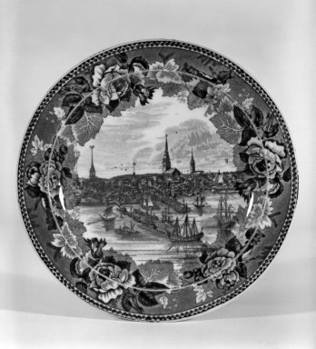 Josiah Wedgwood & Sons Ltd. (founded 1759). Plate, ca. 1896. Earthenware, underglaze, 3/4 x 9 1/8 x 9 1/8 in. (1.9 x 23.2 x 23.2 cm). Brooklyn Museum, Gift of Dr. and Mrs. George Liberman, 81.6.3. Creative Commons-BY