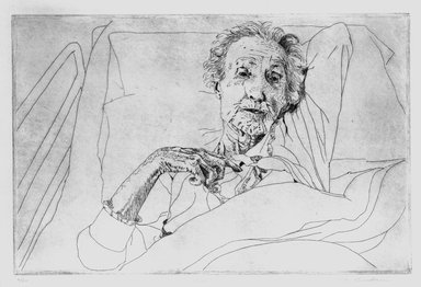 Kay Bradner (American, born 1947). Claire, 1974. Etching on paper, Image: 7 11/16 x 17 11/16 in. (19.5 x 45 cm). Brooklyn Museum, Gift of the artist, 81.68.4. © Kay Bradner