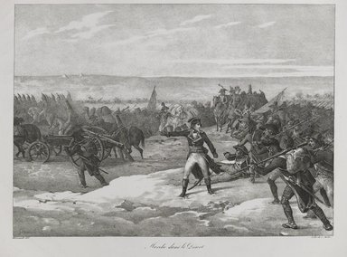 Théodore Géricault (French, 1791-1829). Marche Dans Le Desert, 1823. Lithograph on wove paper, Image: 11 7/16 x 15 13/16 in. (29 x 40.1 cm). Brooklyn Museum, A. Augustus Healy Fund, 81.82.1