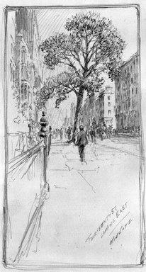 Charles F. W. Mielatz (American, born Germany 1864-1919). 14th Street - Looking East, n.d. Graphite on paper, Sheet: 12 9/16 x 9 1/2 in. (31.9 x 24.1 cm). Brooklyn Museum, Frank L. Babbott Fund, 81.98.7