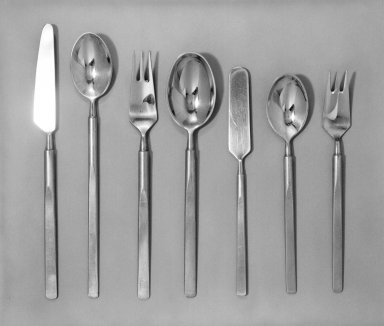 Erik Herlow. Iced Tea Spoon from Seven-Piece Flatware Setting, Obelisk Pattern, 1954. Stainless steel, length: 8 in. Brooklyn Museum, Gift of Dolores R. Tannenbaum, 82.111.7. Creative Commons-BY