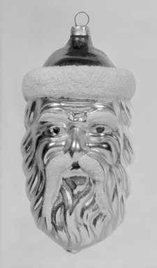 American. Christmas Tree Ornament, 20th century. Glass, 4 1/4 x 2 1/8 x 2 1/8 in. (10.8 x 5.4 x 5.4 cm). Brooklyn Museum, Gift of Fred Tannery, 82.112.5. Creative Commons-BY