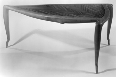 Wendell Castle (American, born 1932). Desk, 1977. Maple, zebrawood, walnut, 29 x 64 x 40 in. (73.7 x 162.6 x 101.6 cm). Brooklyn Museum, This acquisition was made possible through the Louis Comfort Tiffany Foundation, 82.113. Creative Commons-BY