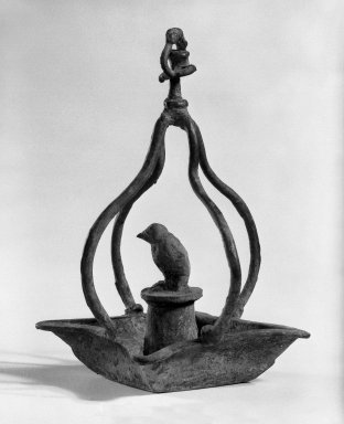 Oil Lamp. Bronze, 6 5/16 x 3 15/16 in. (16 x 10 cm). Brooklyn Museum, Gift of Dr. and Mrs. Eugene Halpert, 82.120.9. Creative Commons-BY