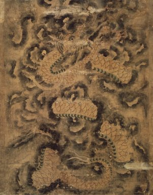 Dragon in Clouds, 18th century. Ink and light color on paper, 35 3/8 x 27 1/4 in.  (89.9 x 69.2 cm). Brooklyn Museum, 82.133