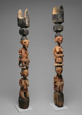 Yoruba. Housepost, One of Pair, late 19th or early 20th century. Wood, pigment, 62 3/4 x 8 1/2 x 6 in. (159.4 x 21.6 x 15.2 cm). Brooklyn Museum, Gift of Allen A. Davis, 82.154.2. Creative Commons-BY