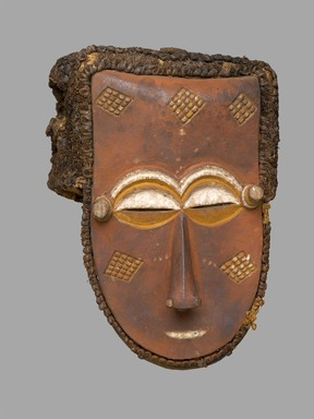 Kuba (Lele subgroup). Mask, late 19th or early 20th century. Wood, pigments, fiber, 13 x 9 1/2 x 8 1/2 in. (33 x 24.1 x 21.6 cm). Brooklyn Museum, Mr. and Mrs. Milton F. Rosenthal, Carll H. de Silver Fund and A. Augustus Healy Fund, 82.160. Creative Commons-BY