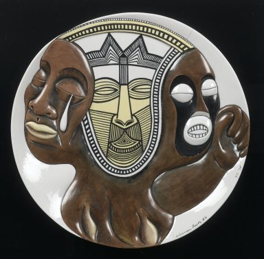 Judy Chicago (American, born 1939). Sojourner Truth #2, Plate, ca. 1978. Painted porcelain, diameter: 14 in. (35.6 cm). Brooklyn Museum, Gift of Judy Chicago, 82.165. © Judy Chicago