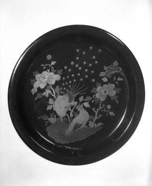 Tray. Lacquer, 2 1/4 x 15 in. (5.7 x 38.1 cm). Brooklyn Museum, Gift of Robert S. Anderson, 82.171.3. Creative Commons-BY