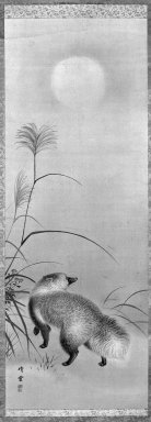 Brooklyn Museum: Hanging Scroll: Badger