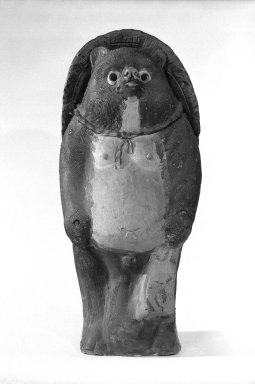 Tanuki (Badger), ca. 1950. Stoneware, Shigaraki ware, Image: 22 1/2 x 10 in. (57.2 x 25.4 cm). Brooklyn Museum, Gift of John M. Lyden, 82.184.11. Creative Commons-BY