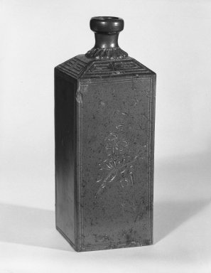 Sake Bottle, ca. 1860. Stoneware, Bizen ware Brooklyn Museum, Gift of John M. Lyden, 82.184.3. Creative Commons-BY