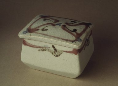 Kawai Kanjiro (Japanese, 1890-1966). Stoneware Box with Lid, ca. 1935. Stoneware, 3 1/2 x 3 5/8 x 4 3/4 in. (8.9 x 9.2 x 12.1 cm). Brooklyn Museum, Gift of Dr. Kenneth Rosenbaum, 82.188.1a-b. Creative Commons-BY