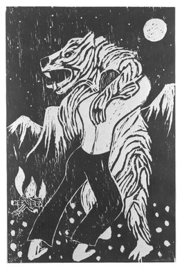 Richard Bosman (American, born India, 1944). Adversaries, 1982. Woodcut on paper, Image: 29 15/16 x 19 11/16 in. (76 x 50 cm). Brooklyn Museum, Designated Purchase Fund, 82.210. © Richard Bosman