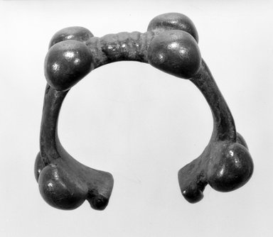 Possibly Bwa. Bracelet, late 19th-early 20th century. Copper alloy, diam.: 2 3/4 in. (7.0 cm). Brooklyn Museum, Gift of Mr. and Mrs. Arnold Syrop, 82.215.12. Creative Commons-BY