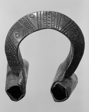 Bracelet, 19th or 20th century. Copper alloy, diam: 4 1/2 in. (11.5 cm). Brooklyn Museum, Gift of Mr. and Mrs. Arnold Syrop, 82.215.14. Creative Commons-BY