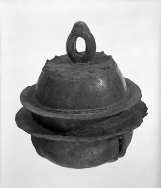 Bell, 12th-13th century. Bronze, 6 3/4 x 5 1/2 in. (17.1 x 14 cm). Brooklyn Museum, Gift of Dr. Fred S. Hurst, 82.223.3. Creative Commons-BY