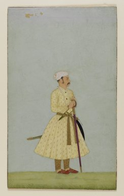 Indian. Portrait of Rao Chattar Sal of Bundi, ca. 1675. Opaque watercolor and gold on paper, sheet: 7 5/16 x 4 11/16 in.  (18.6 x 11.9 cm). Brooklyn Museum, Gift of Amy and Robert L. Poster, 82.227.1